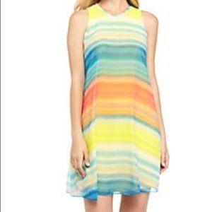 Calvin Klein Colorful Shift Sun Dress EUC +